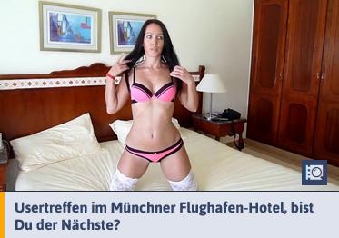 Kurvige Speckmaus lässt sich im Hotelzimmer ficken
